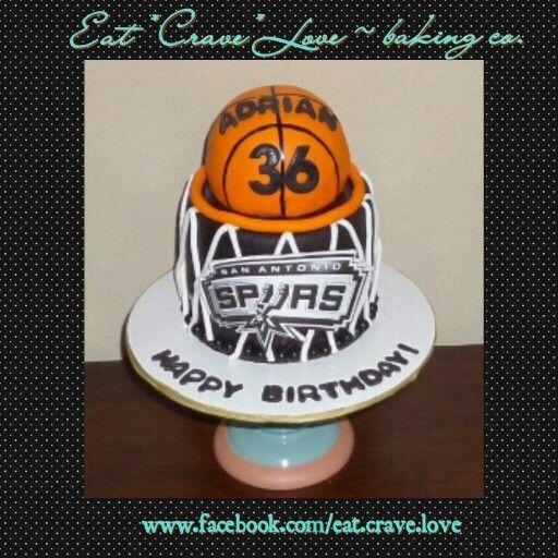 Cool San Antonio Spurs Basketball Birthday Cake With Images Birthday Cards Printable Trancafe Filternl