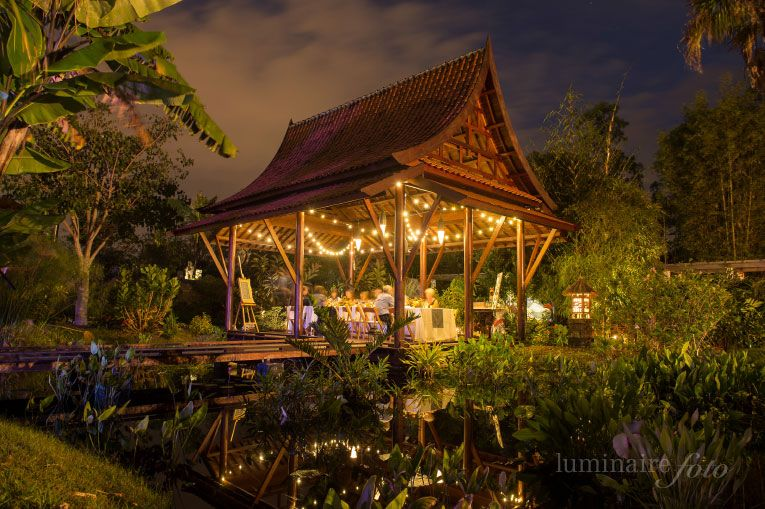 Small dinner reception in our Tai Pavillion located in the