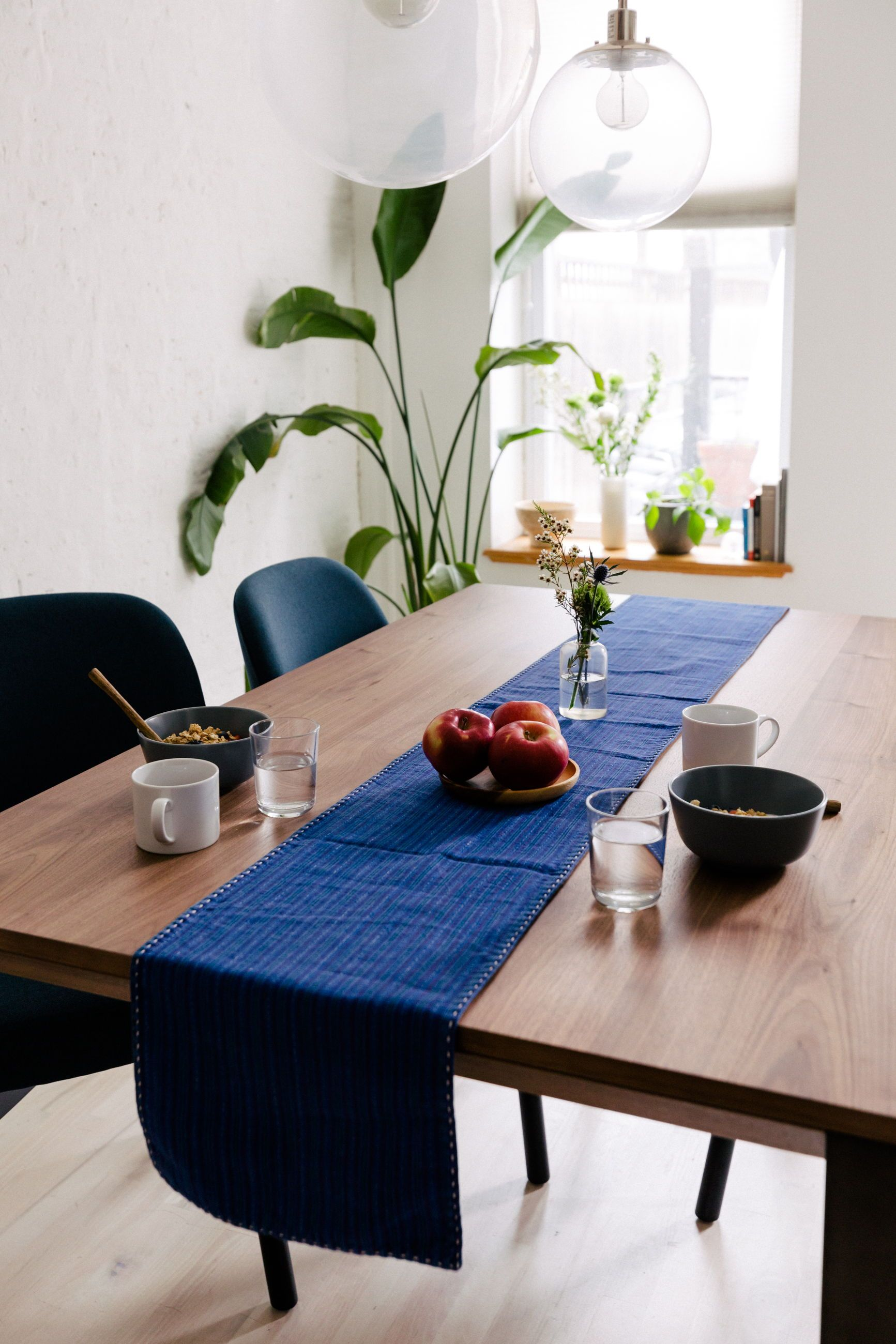 An Interior Define custom dining set the Hayes table and Dylan