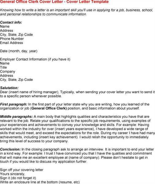 general office clerk cover letter free sample letters data entry - cover letter for office clerk