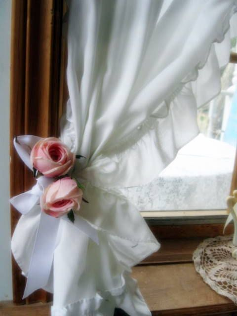 Image detail for -Curtains, Cafe, Frills, Window Curtain, White, Shabby Chic, Shabby ...