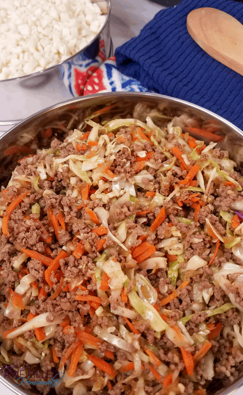 Instant Pot Egg Roll In a Bowl (Low Carb!) #eggrollinabowl