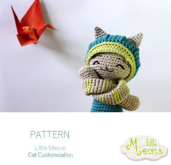 Crochet PATTERN Cat customization Little Meons por LittleMeon ...