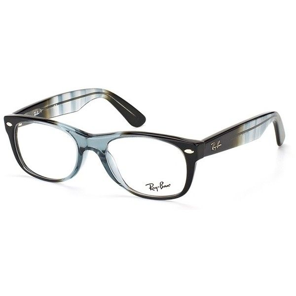 a290630d4a Ray-Ban RX 5184 5515 Gradient Gray On Black New Wayfarer Eyeglasses ( 128)  ❤ liked on Polyvore featuring accessories