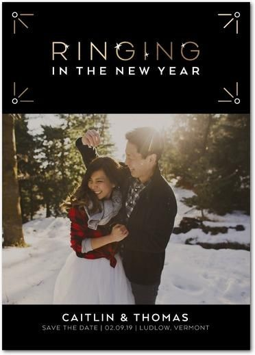 Ringing in the New Year Save the Date Wedding Paper Divas Save