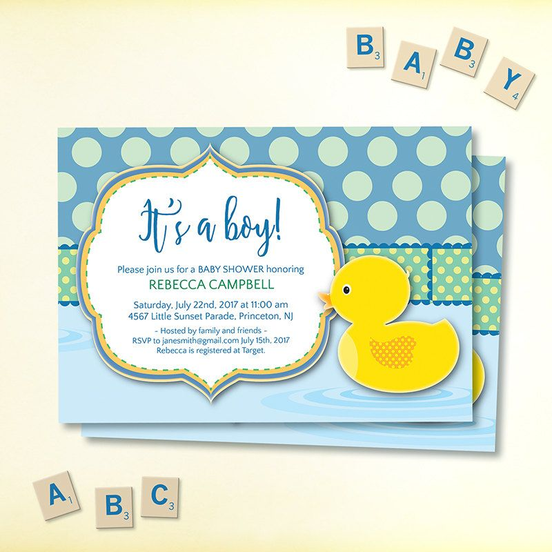 New cute baby shower invitation duck design to honour the new mum new cute baby shower invitation duck design to honour the new mum edit stopboris Image collections