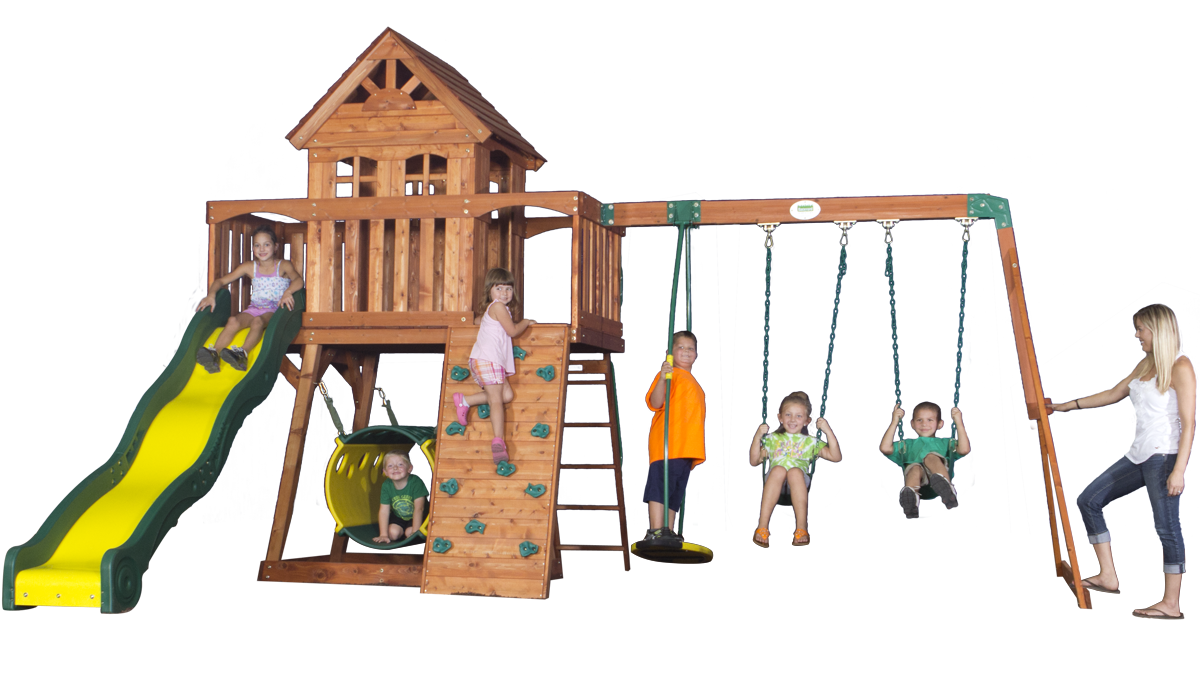 Superbe Backyard Discovery Cedar View Swingset   Overstock™ Shopping   Big  Discounts On Backyard Discovery Swing Sets
