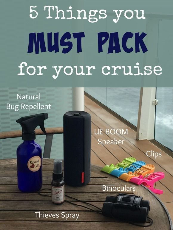 5 things you must pack for your cruise