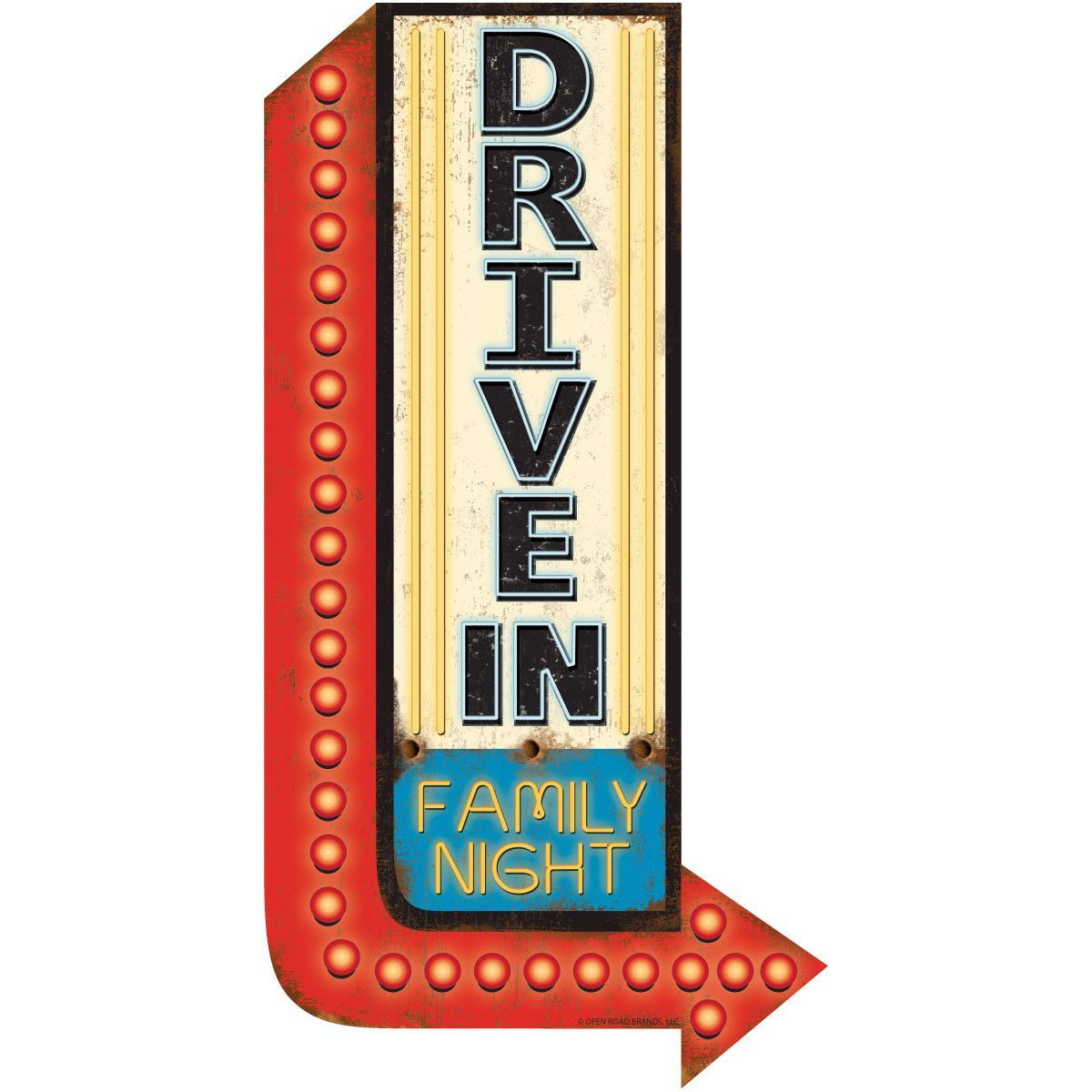 Drive In Movie Family Wall Decal Family Wall Decals Diner Sign Wall Decals