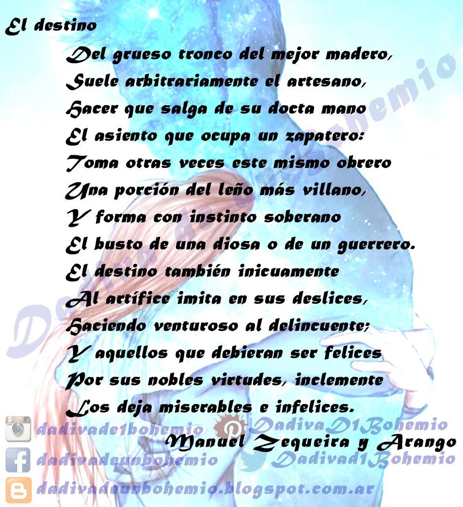 El destino- Manuel Zequeira y Arango