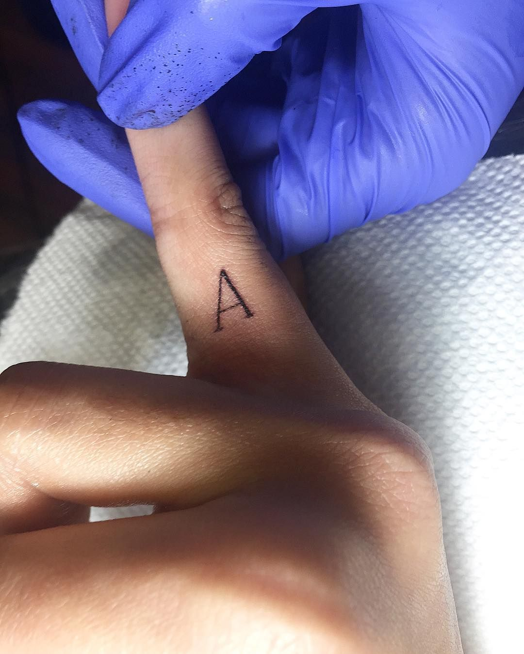 f62fcc592 Love this tiny letter finger tattoo idea. | Love This! | Tattoos ...