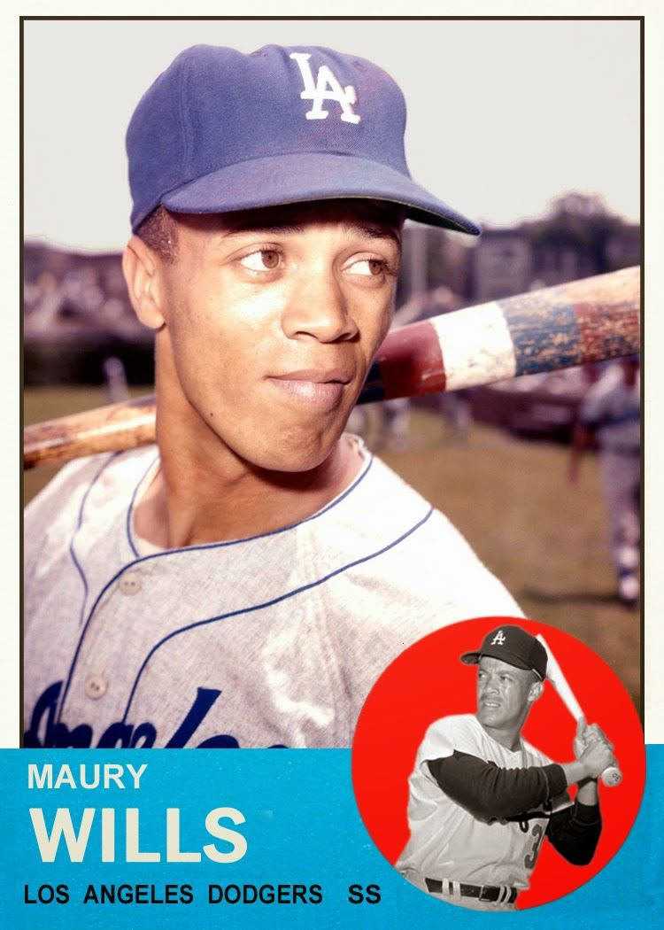 1963 Topps Maury Wills By Bob Lemke This Was Not An Official