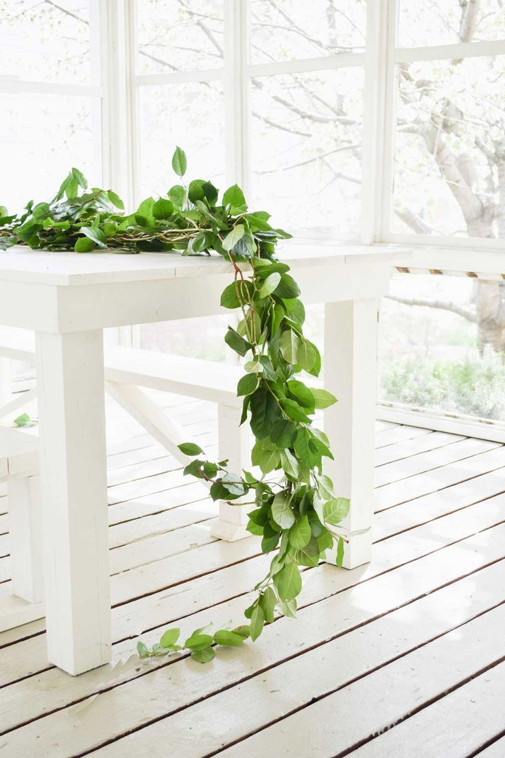 Really Inexpensive!) Greenery Garland Greenery garland