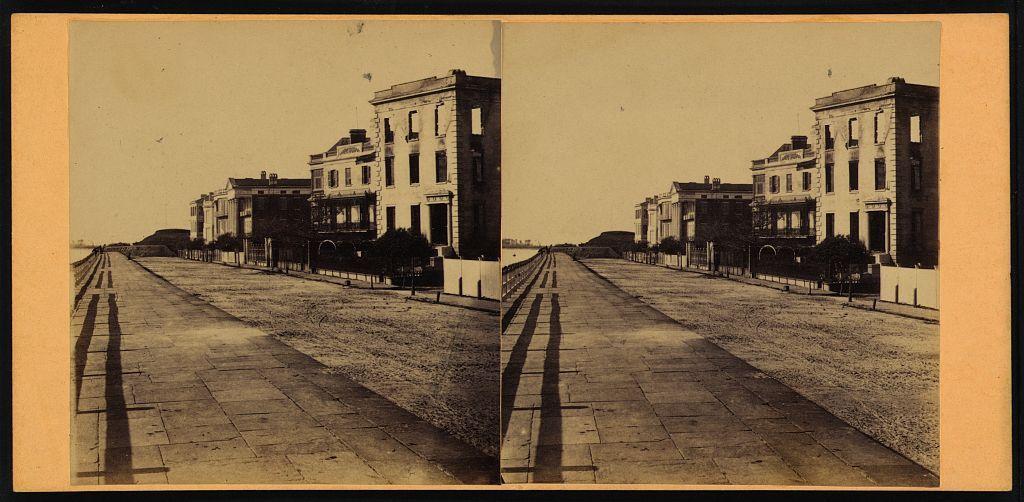 View On Battery Charleston Harbor Charleston Sc Photograph Shows