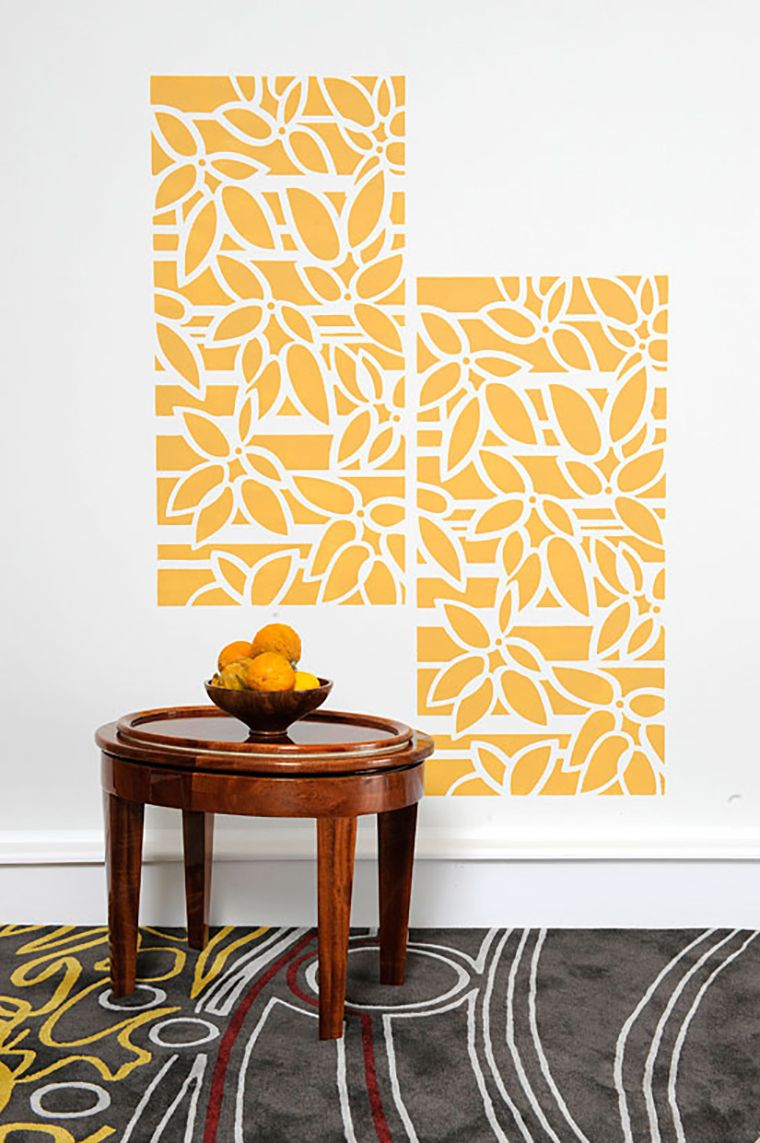 Morando na Pindaiba : Paredes | Orange | Pinterest | Stenciling ...