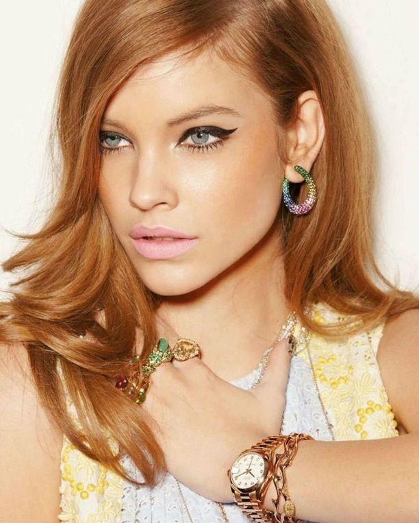 60s Esque Cat Eye Lip Color Vogue Germany Feat Barbara Palvin