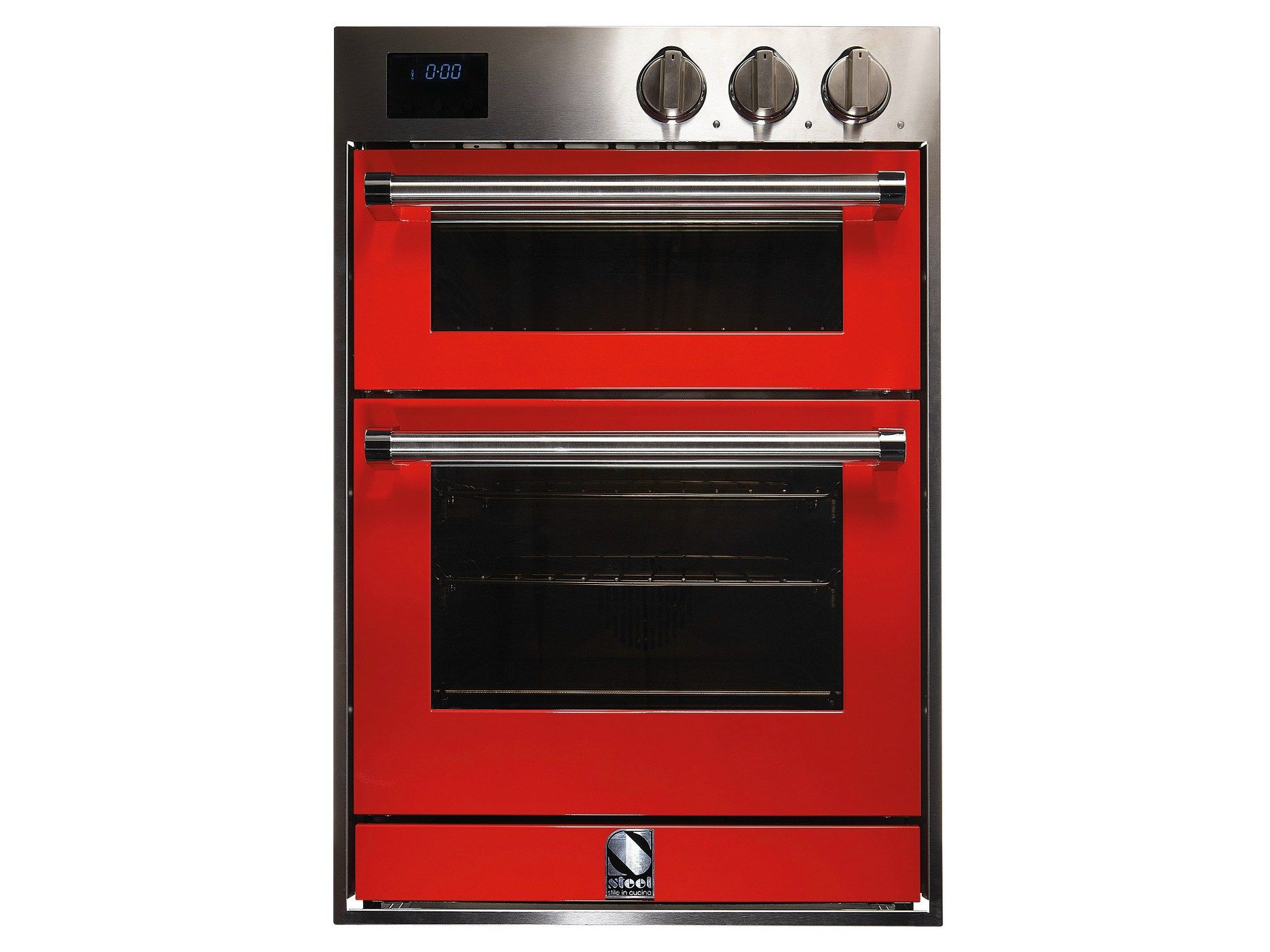 Electric kitchen stoves  Steel Cucina wall oven Genesi double  possible third oven to go