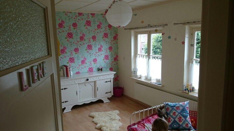 Kinderkamer Behang Vogelhuisjes : Kinderkamer slaapkamer bedroom girl birds diy oud dressoir pip