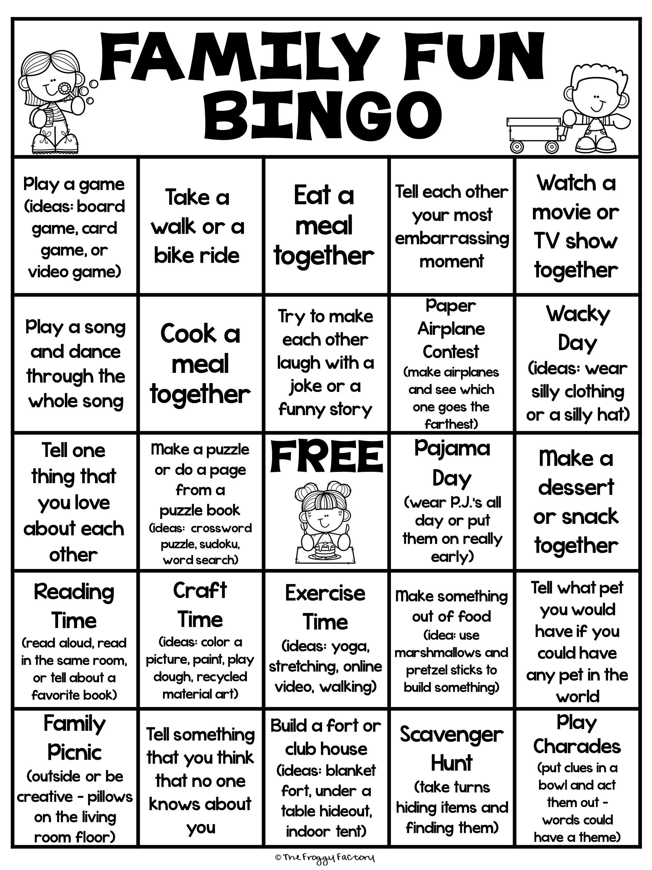 Family Fun Bingo Freebie
