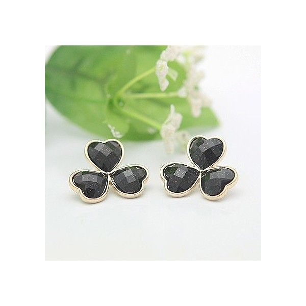 Black flower elegant earrings | Fashion | Pinterest