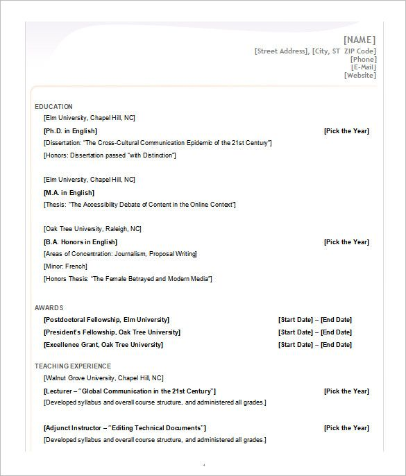 Microsoft Word  Resume Template  A Successful Resume Template