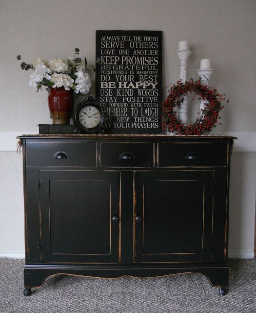 Best 25 Black Buffet Ideas On Pinterest Painted Buffet