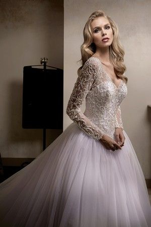 Jasmine Couture Wedding Dress Style T192013 In Periwinkle Wedding