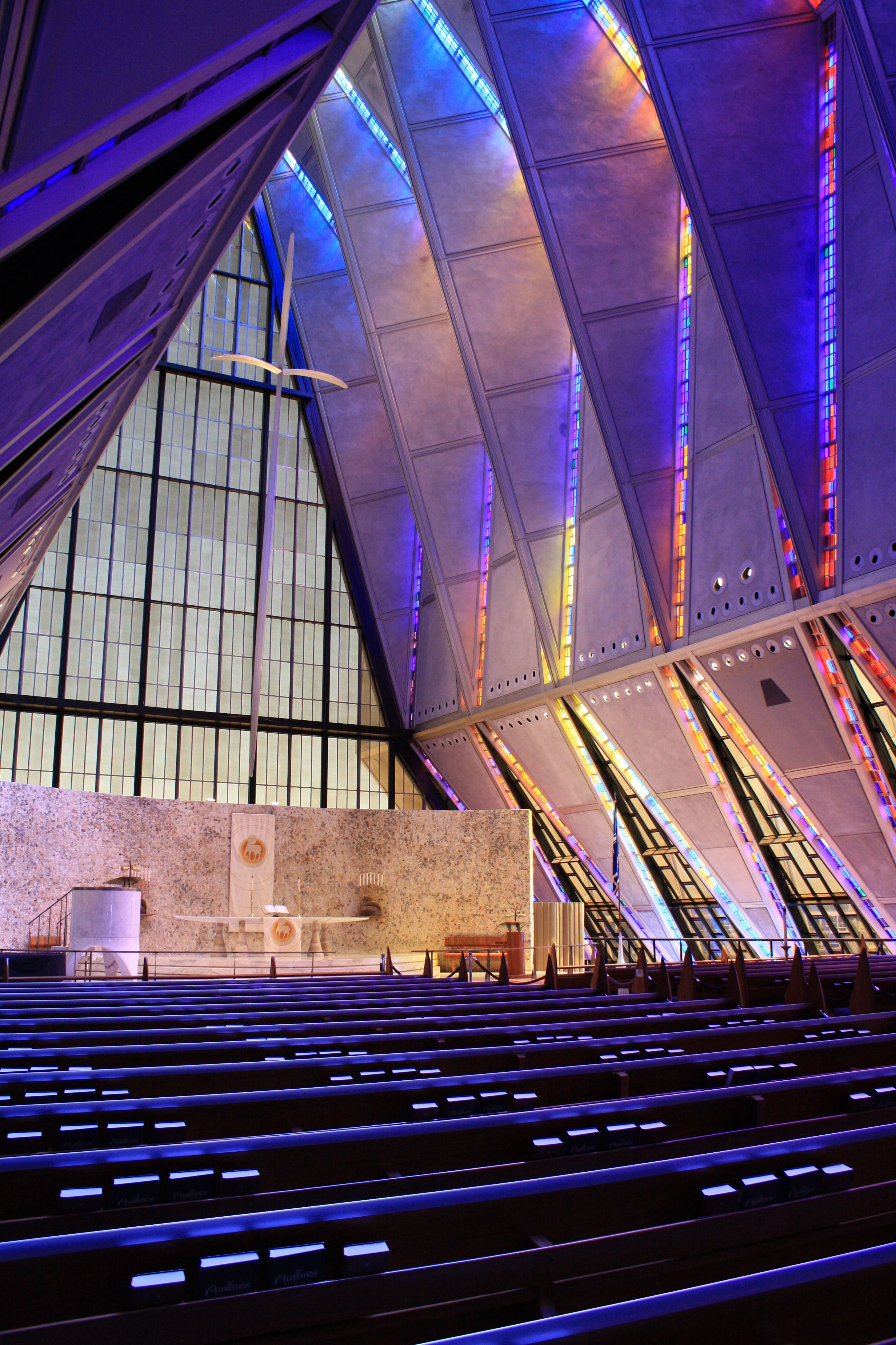 Cadet Chapel at the U.S. Air Force Academy in Colorado