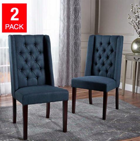 Costco Mariel Dining Chair 2 Pack Blue Dark Gray Or Light Gray