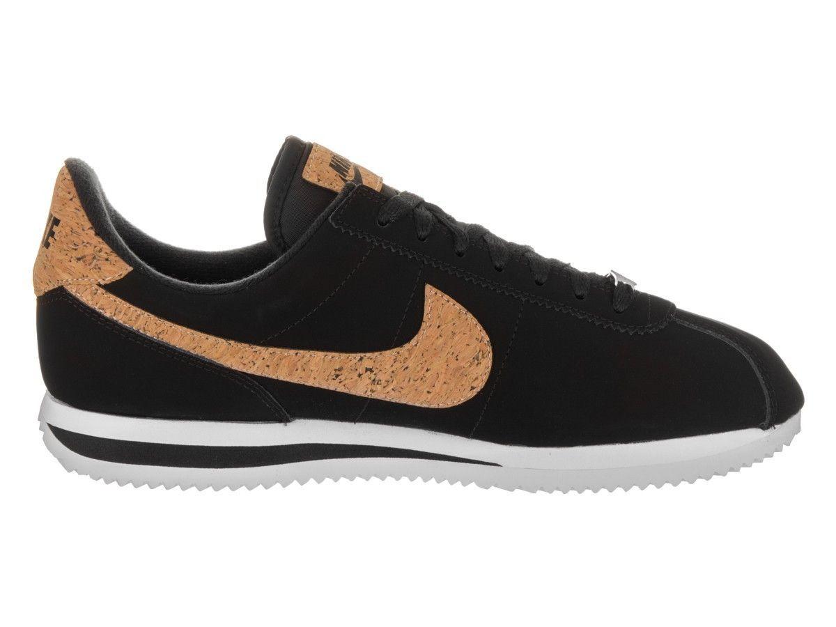 online store fcd33 bb895 Nike Men's Cortez Basic Leather Premium (Black/Black White ...