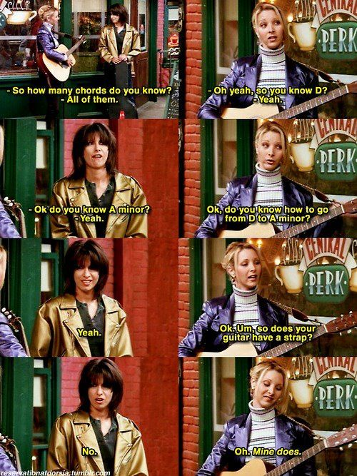 Phoebe knows all the chords | FRIENDS | Pinterest | TVs, Friends tv ...