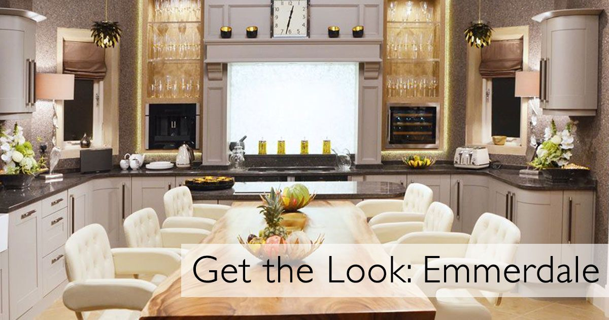 get the look home farm s kitchen in emmerdale kitchens kitchen rh pinterest com