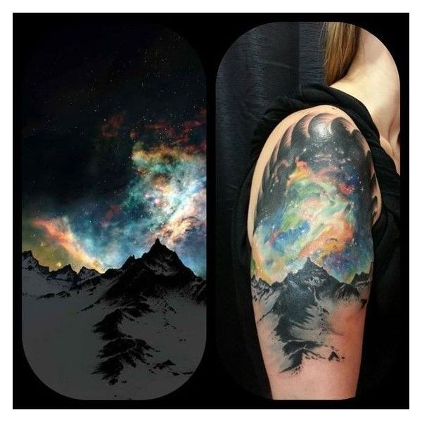 26 Enchanting Aurora Borealis Tattoos Liked On Polyvore