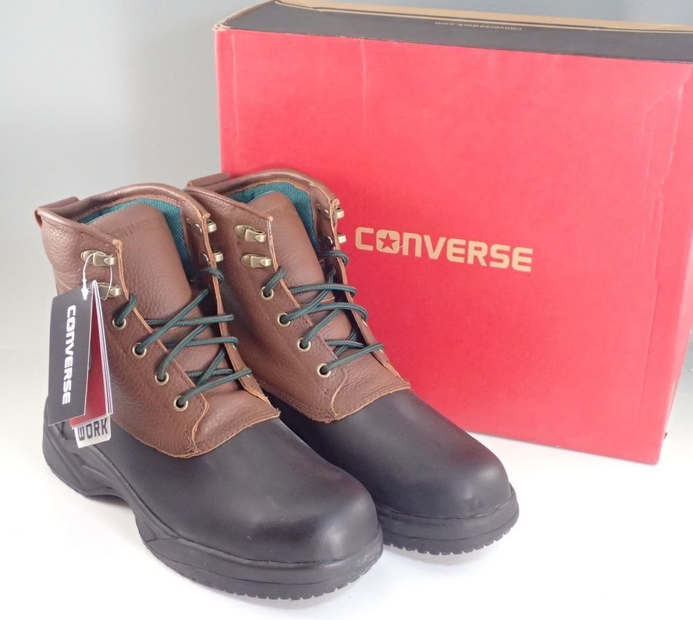 d973c39cdad059 Converse Men s Steel Safety Toe Waterproof Rubber Work Boots R9650 See List   Converse  WorkSafety