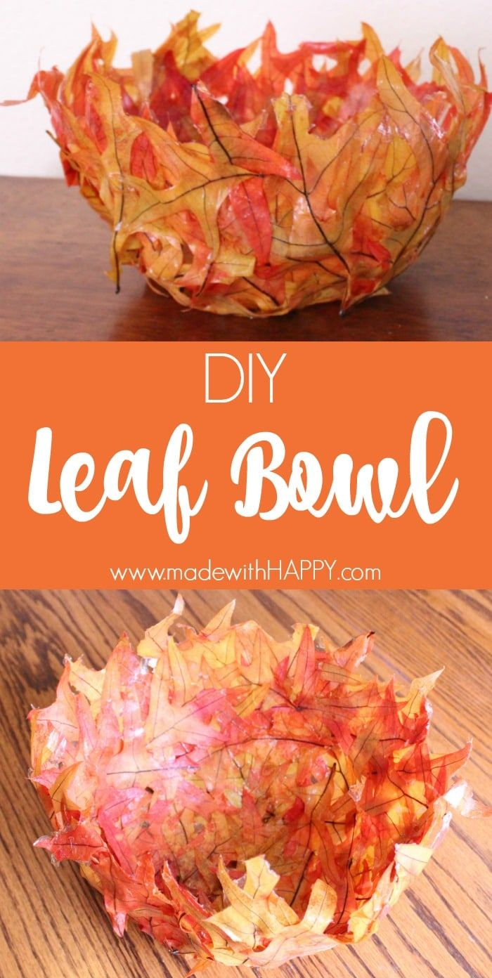 Easy Leaf Bowl DIY - Fabulous Craft Project for the Fall