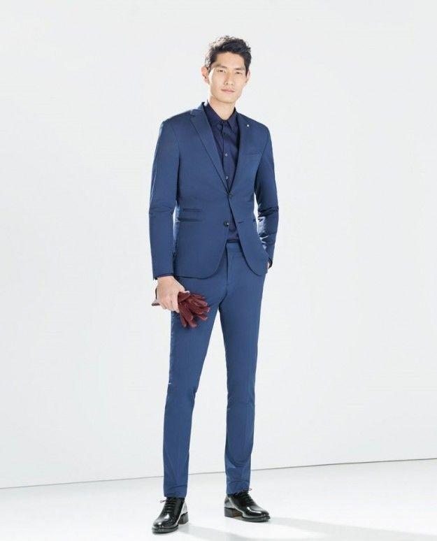 Abito blu da cerimonia uomo