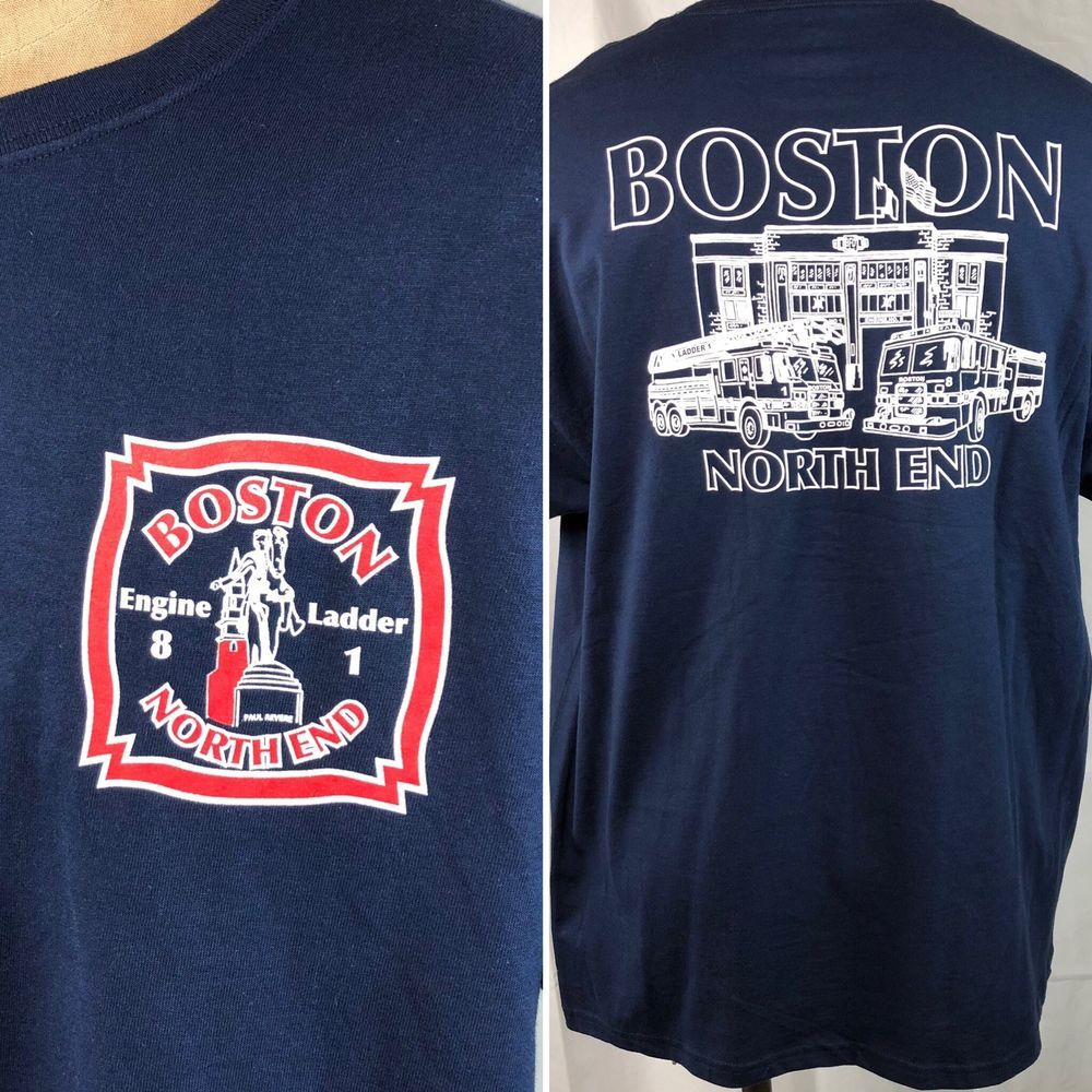 the latest 29841 861f6 Boston Fire Department North End BFD Crew T-Shirt XL Mens ...