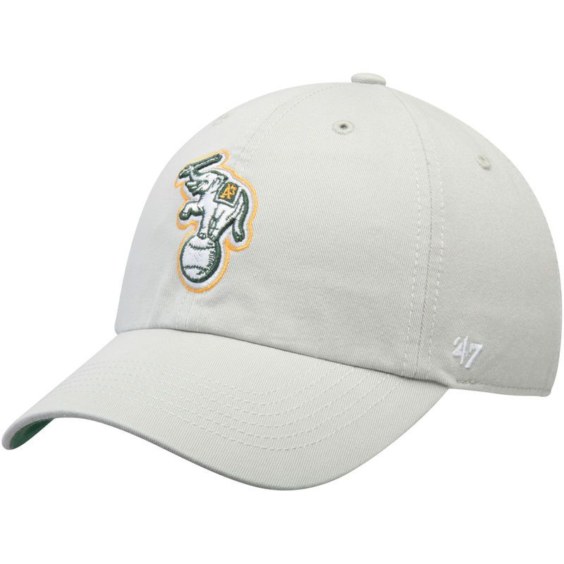 low priced 1fdc2 0b691 Oakland Athletics  47 Primary Logo Franchise Fitted Hat - Gray