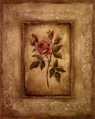 Victorian Wallpaper Rose Art Decoupage Printables