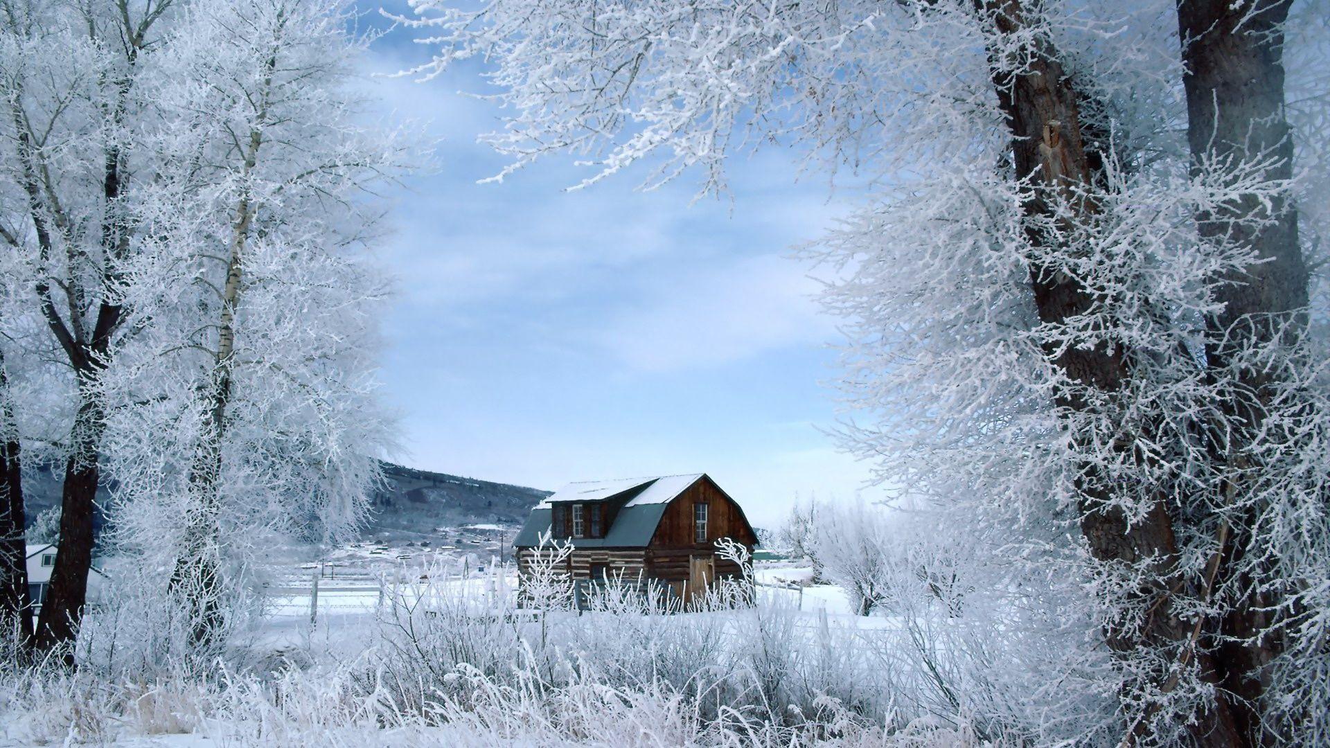 Barn In A Winter Wonderl HD Desktop ...