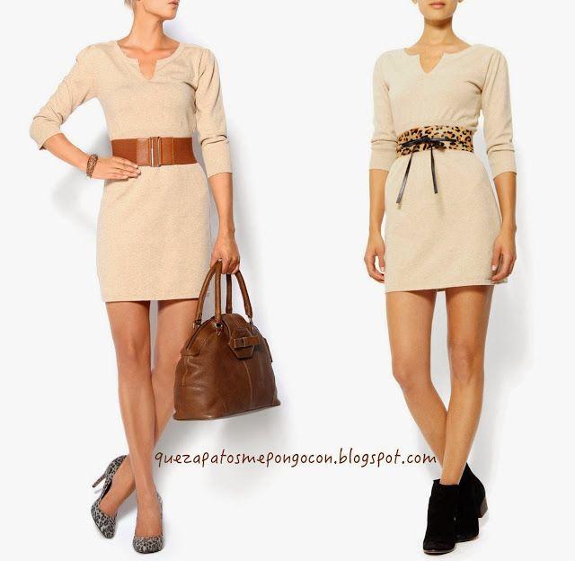Que zapatos me pongo con un vestido beige como combinar - Colores para combinar ...