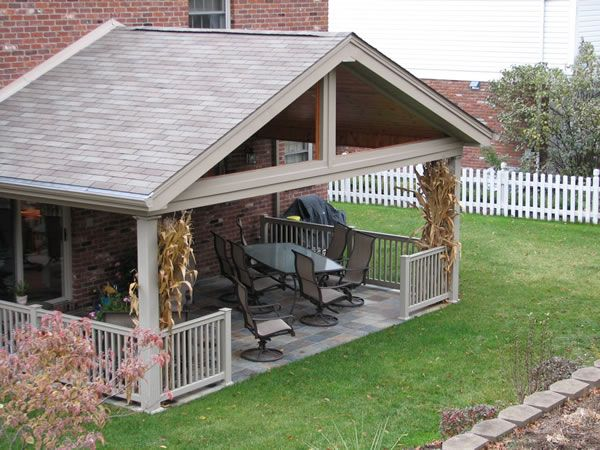 covered deck addition design | roof - gable roof, finished ceiling ... - Gable Patio Designs