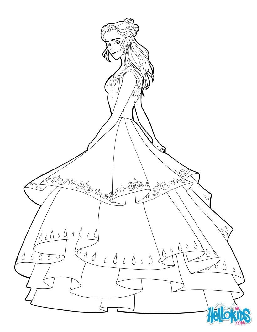 Coloring Page About The Beauty And The Beast Disney Movie Nice Drawing Of Disney Princess Coloring Pages Princess Coloring Pages Barbie 12 Dancing Princesses