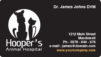 veterinary business cards