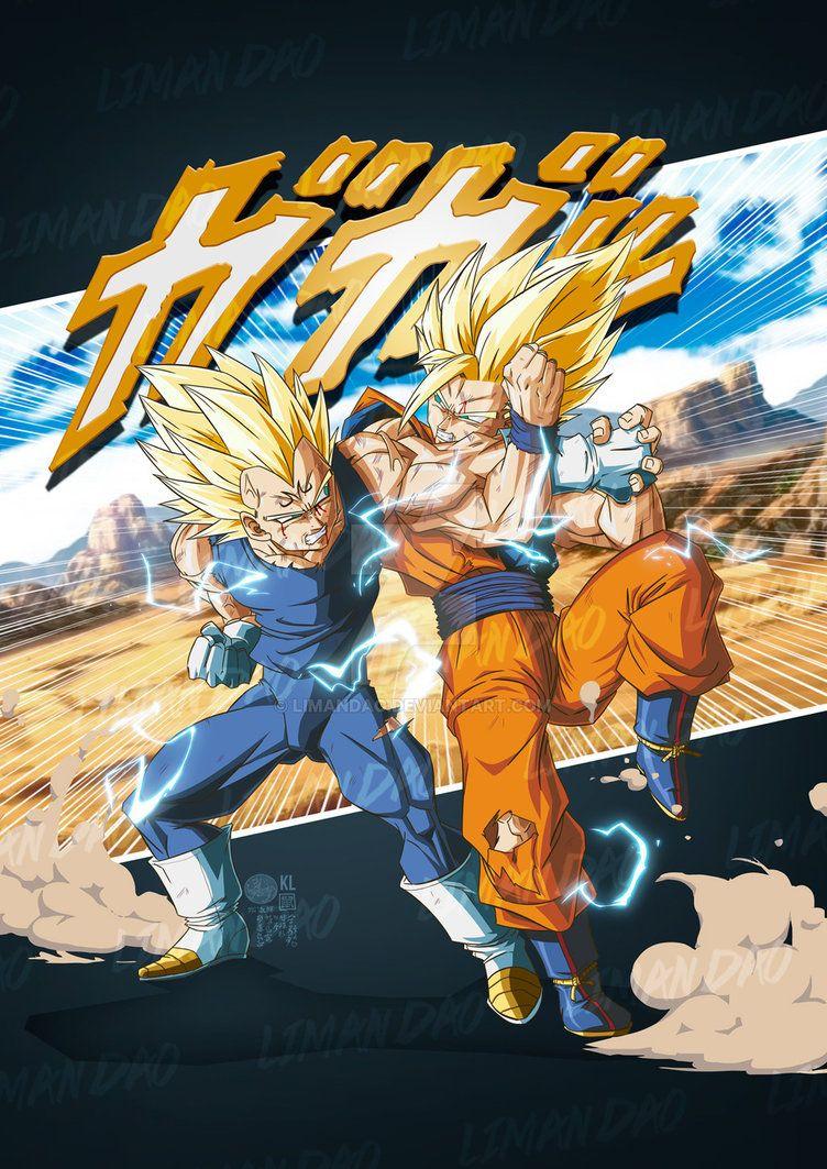 Endless Battle Goku Vs Majin Vegeta 2019 By Limandao Anime Dragon Ball Super Dragon Ball Wallpapers Dragon Ball Art