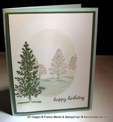 A great easy Christmas card with the fantastic Lovely as a Tree stamp set