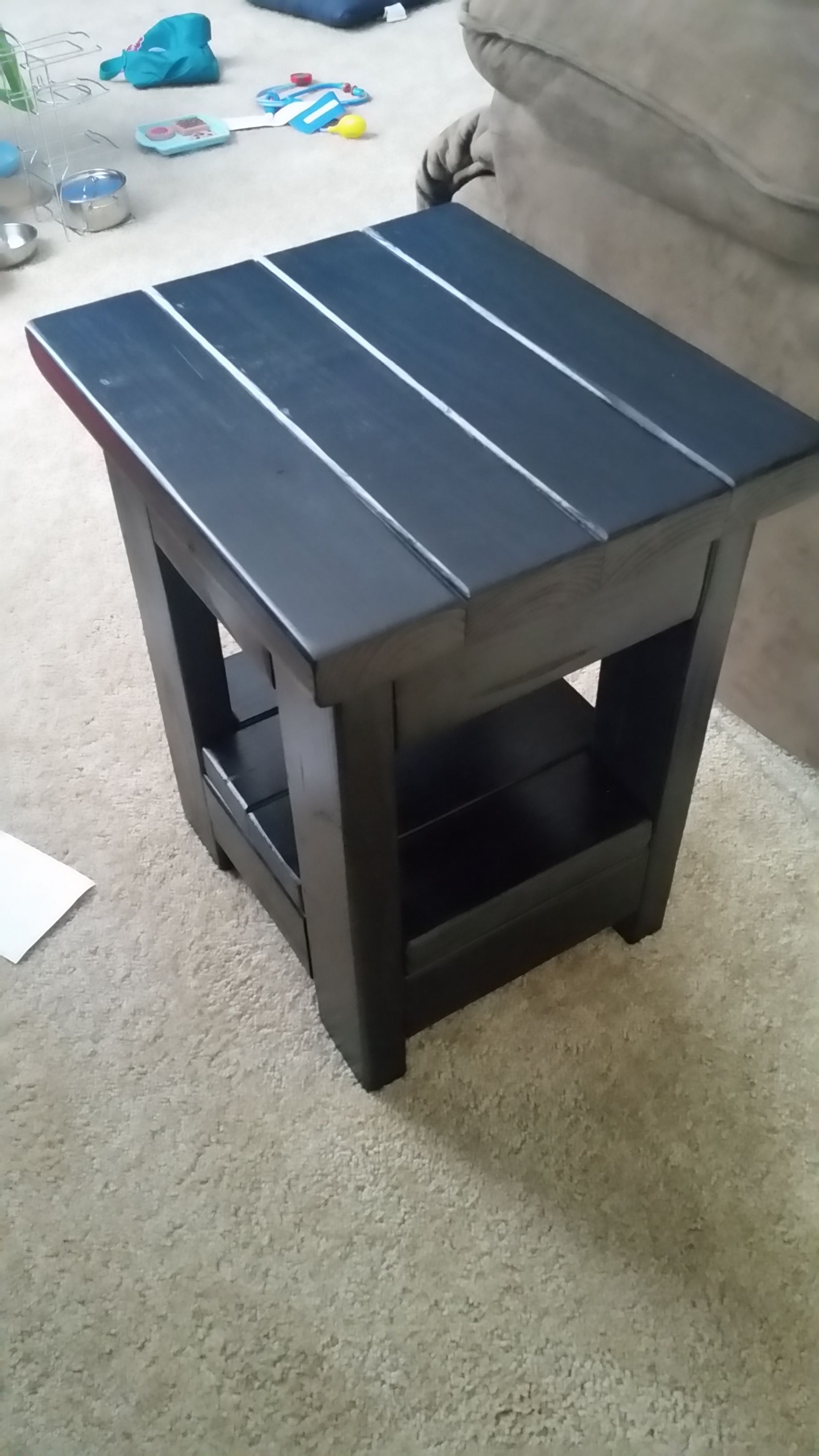 Diy End Tables Plans Small End Table From 2x4 39s Do It Yourself Home Projects