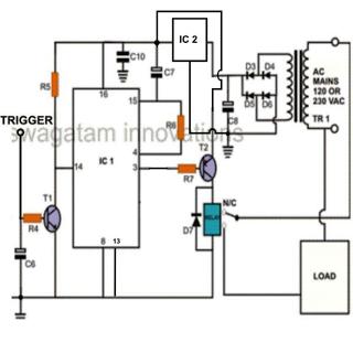 mini circuit projects timer circuits emergency light hobby circuits rh pinterest com