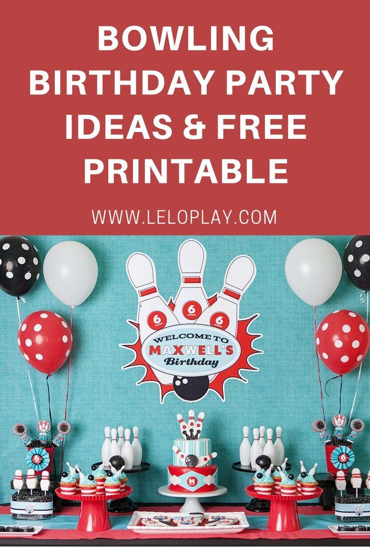 Bowling Birthday Party & ... Free Printable   Birthday parties kids ...