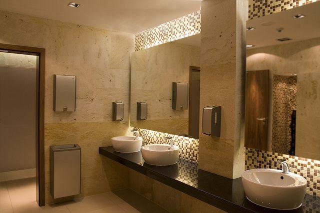 Public restroom luxury toilet and bathroom designs for Modern washroom designs